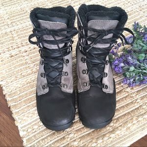 Other - Timberland Black & Grey Waterproof Winter Boots